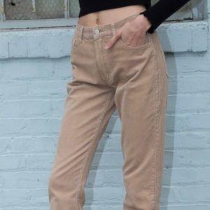 brandy melville corduroy tan jeans